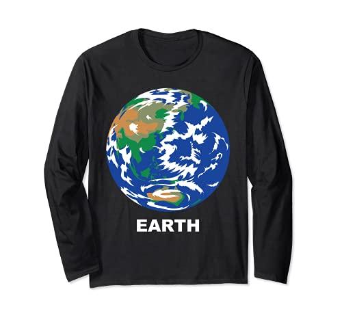 Trajes de Grupo de Sistema Solar - Planeta Terrestre de la Tierra Manga Larga