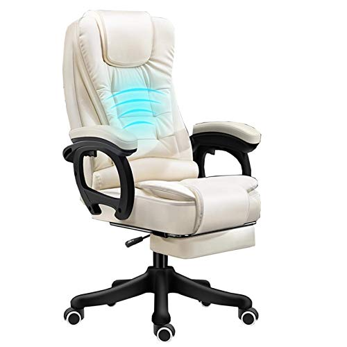 ZMXL Ergonomics Swivel Chair Computer Chair Home Lift Business Chair Latex Backrest with Massage Feature PU Office Chair 140 ° Lying with Fu? Support Wearing Nylonfü? E Unisex Relax Board Chair