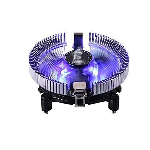 WYH PC Cooler Compact Multi-Compatible CPU Cooler 90mm PWM Ventilador aluminio aletas Ventilador para PC de escritorio Ventilador silencioso