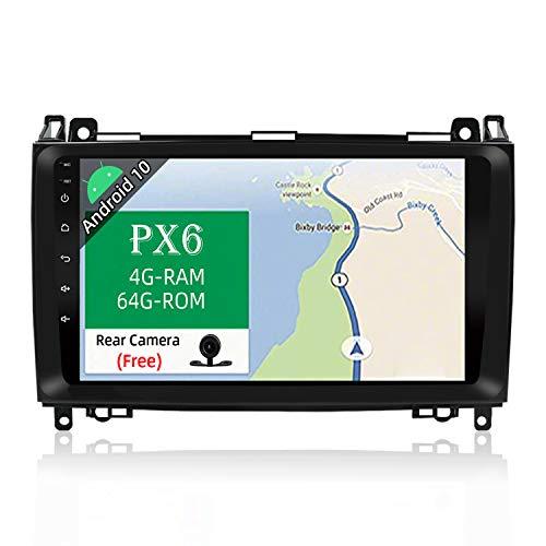 JOYX PX6 Android 10 Autoradio Compatible para Benz Viano/Sprinter/W906 Estereo   Gratis Canbus Cámara   4G+64G   GPS 1 DIN   9 Pulgada   Apoyo HDMI AHD-Cámara 4K-Video Dab 4G WLAN BT Carplay Volante