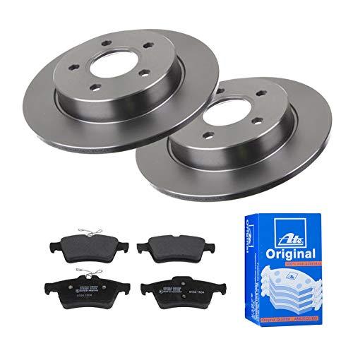 2 Bremsscheiben Ø265 Voll + Bremsbeläge ATE Hinten P-A-02-00481 Bremsanlage