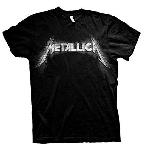 Metallica 'Spiked' Logo Black Unisex T-shir, M to XXl