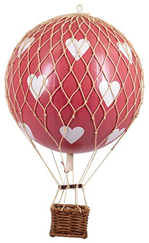 Authentieke modellen drijven de lucht rode harten ballon 32cm