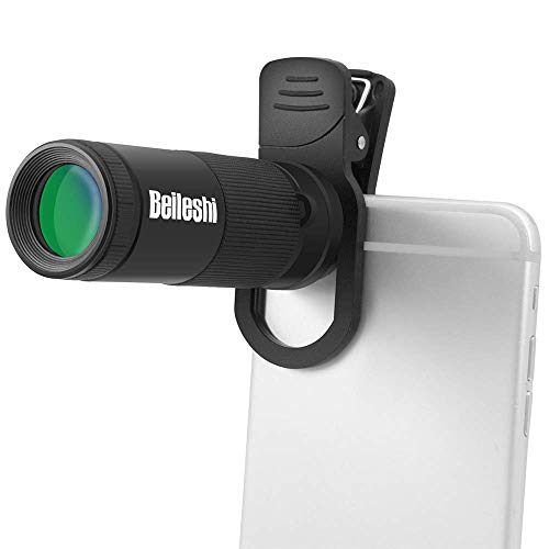 HYDDG Telescopio monocular óptico 8x20 HD Monoculares de Lentes de Zoom de Doble Enfoque óptico Monocular portátil Handheld al Aire Libre Ornitología Caza Cámping