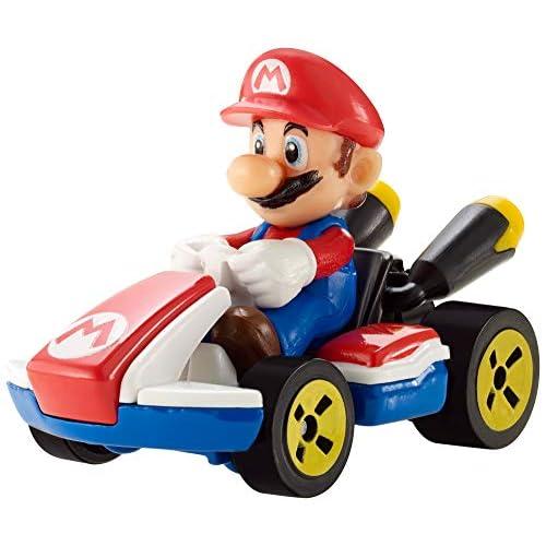 Hot Wheels - Mario Kart Mario, Standard Kart Veicolo Giocattolo in Metallo Pressofuso, GBG26
