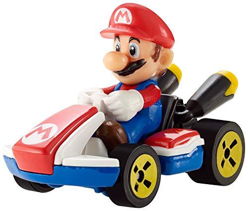 Hot Wheels GBG26 - Mario Kart Replica 1:64 Die-Cast Spielzeugauto Mario, Spielzeug ab 3 Jahren