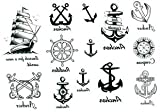 2012 latest new design new release Temporary Tattoo waterproof anchor nautical tattoo stickers