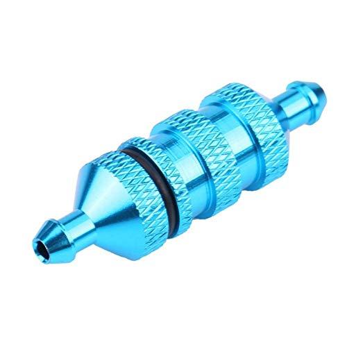 Filtro de Combustible HSP RC, aleación de Aluminio Nitro RC Fuel Oil Nitro Fuel Filter, para RC Model Car 1/8 1/10 Scale Upgrade Parts(Blue)