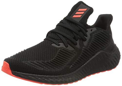 adidas Alphaboost, Zapatillas para Correr, Core Black/Gold Met./DGH Solid Grey, 38 2/3 EU