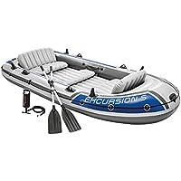 Intex 68325NP - Barca Hinchable Excursion 5 con 2 Remos 366 x 168 x 43 cm