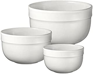 Emile Henry Made In France Flour Deep Mixing Bowl Set Of 3. Set Includes: Sm. 7