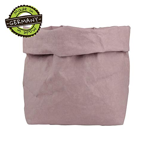 papyrMAXX oprolbox Stuff maat XL duurzaame veelzijdige-mand van wasbaar papier 0,55cm sterk I Opslagmand voor bad - en kinderkamer etc. I cadeaubuidel planten planter bes