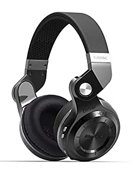 Bluedio T2S Bluetooth Headphones On Ear with Mic 57mm Driver Rotary Folding Wired and Wireless Headphones for Cell Phone/TV/PC 40 Hours Play TimeVoice Control Cloud Function  Black