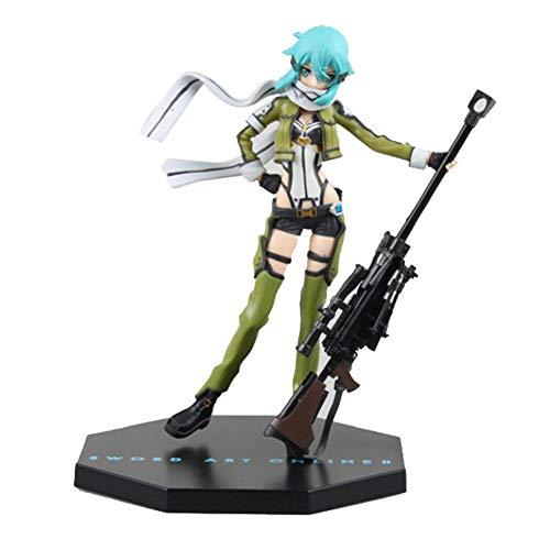 SGOT Anime Sword Art Online Figur, Asada Shino Figur, Sinon Figur, Fatal Bullet Figur, PVC Spielzeug, Actionfigur Sammelfigur 20 cm