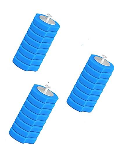 LANGYA 24 pcs reemplazo de palillo de Inodoro, reemplazo de Limpiador de Inodoro, Cabezal de Cepillo de Inodoro desechable, Cabezal de reemplazo de Cepillo de Inodoro