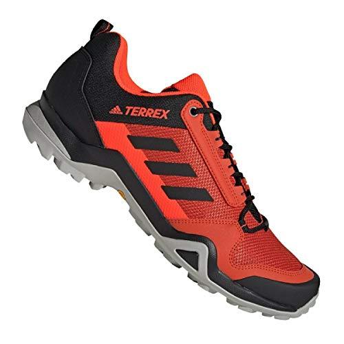 adidas Terrex AX3, Zapatillas Deportivas Hombre, Glory Amber/Core Black/Solar Red, 43 1/3 EU