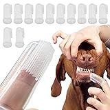 10 cepillos de dientes para mascotas, de silicona suave, para el...