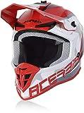 Acerbis Linear - Casco de motocross, color rojo/blanco, talla S (55/56)