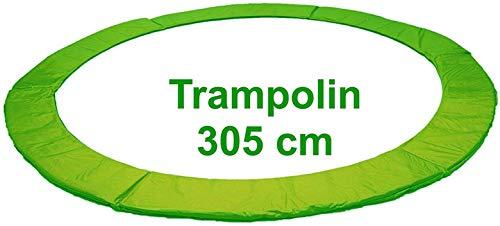 Izzy Trampolin Federabdeckung Ø 305 cm 365 cm 366 cm 426 cm, 430 cm, PVC reißfest, 100% UV-beständig, Randabdeckung, Randpolsterung, Randschutz, Umrandungsmatte (305 cm - grün)