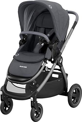 Maxi-Cosi Adorra, Baby Kinderwagen, Comfortabele en Lichtgewicht Kinderwagen, Extra Grote Boodschappenmand, Geschikt vanaf de Geboorte, 0 Maanden tot 3.5 Jaar, 0-15 kg, Essential Grey (grijs)