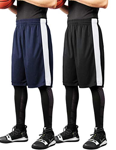 COOFANDY Men's 2-Pack Basketball Shorts Dry Fit Mesh Workout Running Shorts Active Athletic Performance Shorts with Pockets