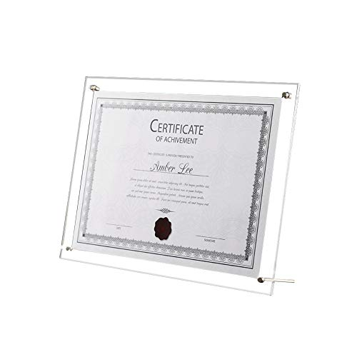 circulor Bilderrahmen A4, Schaukeln Fotorahmen, Rahmen Business-Lizenz, Certificate of Merit Zertifikate A4 Kristall Plexiglaskasten