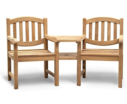 Jati Kennington Teak Love Seat - Tete a Tete Companion Bench Brand, Quality & Value