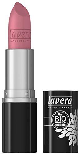 lavera Lippenstift Beautiful Lips ∙ Colour Intense ∙ Farbe Dainty Rose ∙ zart & cremig ∙ Natural & innovative Make up ✔ Bio Pflanzenwirkstoffe ∙ Lipstick ∙ Naturkosmetik 3er Pack (3 x 4,5g)