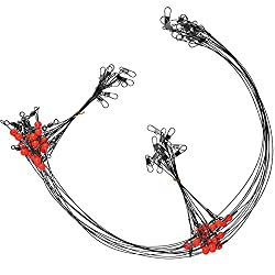 powerful 12 pieces of jasmine swivel, stainless steel wire with snap pearl High strength fishing …