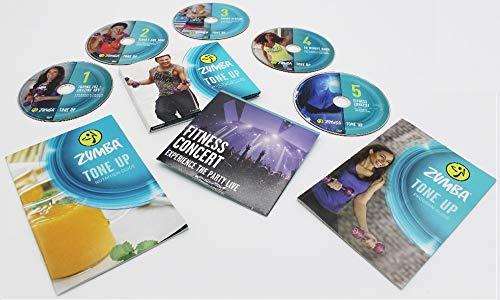 Zumba Fitness Tone Up 5 System DVD + 2 Programm-Heften Alles in Englisch ohne Toning Sticks