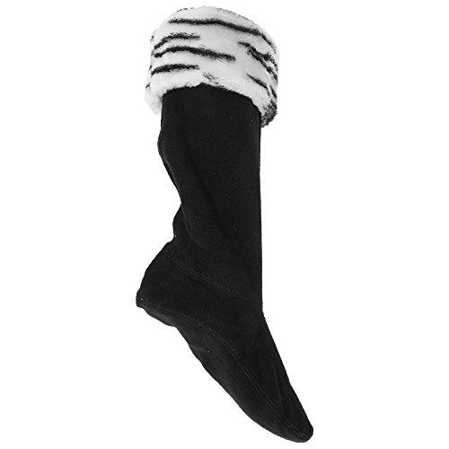 Universaltextilien Damen Thermo Fleece-Socken für Gummistiefel, mit Tierfell-Muster (39-42 EU) (Zebra)