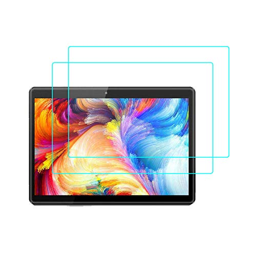 Screen Protector for Pritom Tronpad M10 10 Inch Tablet, 9H Tempered Glass [Bubble-Free] Screen Protector for Pritom Tronpad M10 10 Inch Tablet/VUCATIMES N10 10-Inch, 2PC