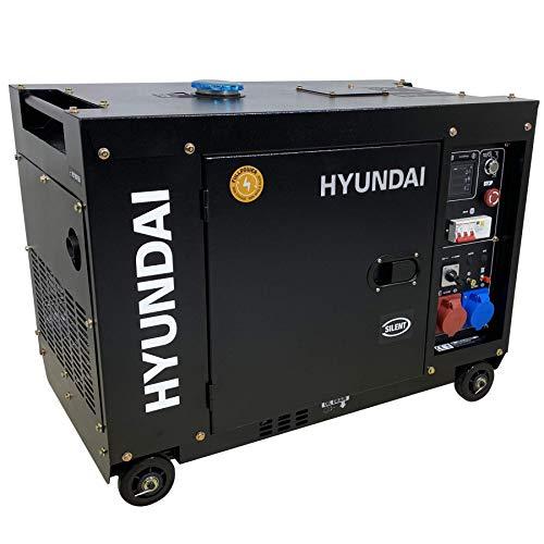 Hyundai DT75D 7900W Diesel-Stromgenerator mit Fernbedienung (Frequenz 50 Hz, Volt 230/400, Start elektrisch & Ferngesteuert)