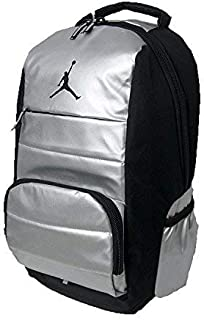 Nike Air Jordan Jumpman Driven All World Student School Sports Book Laptop Backpack Metallic Silver Black