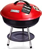 Mueller BBQ Buddy, 14 Inch Portable Charcoal Grill, Lightweight Grill for Barbecue Party, Dual Vents for Temp & Charcoal Control