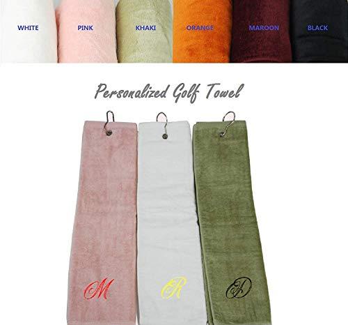 Aangepaste Gepersonaliseerde Geborduurde Golf Handdoek 100% Katoen 16