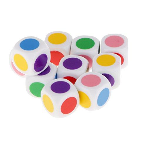 Kinder-Brettspiel Würfel 6 Farben Würfelt Tischspiele Lernspielzeug