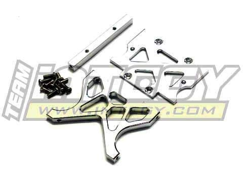 Integy RC Model Hop-ups T6959SILVER Main Chassis Support Mount for HPI E-Savage