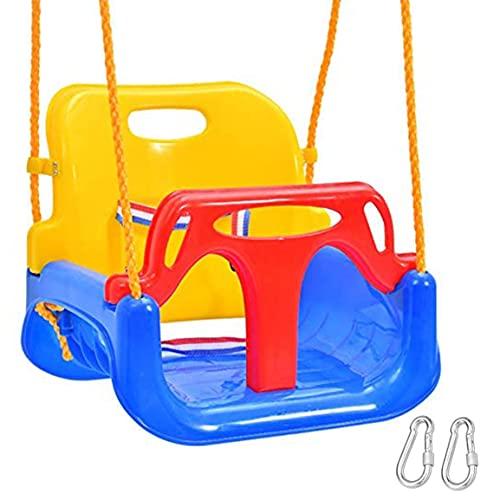 Emwel Babyschaukel Outdoor - kinderschaukel 3 in 1 Kinderschaukel Indoor...