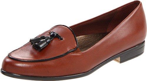 Trotters Women's Leana Loafer,Cognac/Black,9 W US