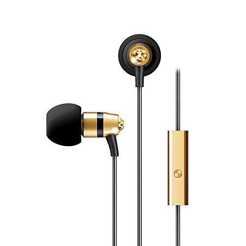 Crystal by MEE audio In-Ear Headphones with Microphone Made with Swarovski Crystals, Gold