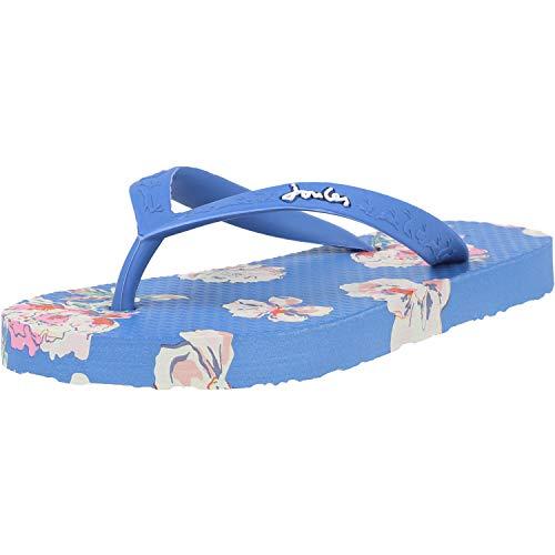 Joules Baby-Mädchen Flip Flop Flipflop, blau, Blumenmuster, 30 EU