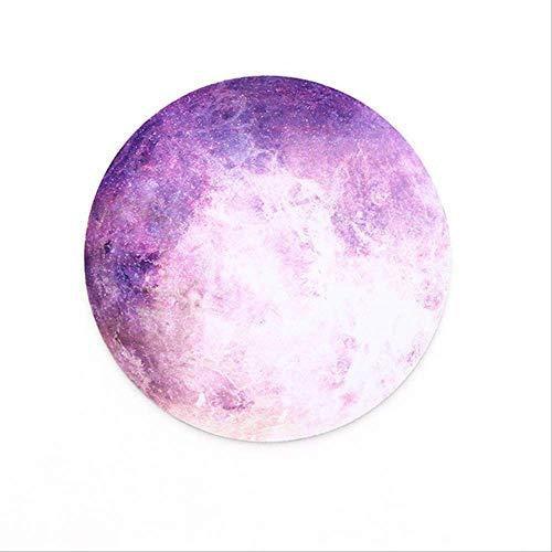 Sin marca Alfombrilla de ratón redonda Serie Planet Alfombrilla Tierra / Venus / Marte / Plutón / Luna del arco iris / Luna negra Talla única 06