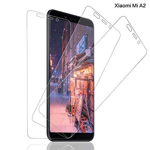 SNUNGPHIR Panzerglas Schutzfolie für Xiaomi Mi A2 [3 stück], 9H Festigkeit Panzerglasfolie [Anti-Bläschen][Anti-Kratzen][Anti-Fingerabdruck][HD Ultra-Klar] Panzerglas Bildschirmschutzfolie für Xiaomi Mi A2