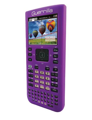 Guerrilla Silicone Case for Texas Instruments TI Nspire CX/CX CAS Graphing Calculator, Purple Photo #4