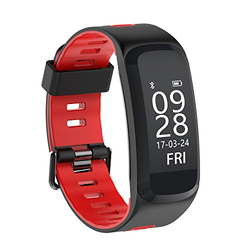Kxcd Activity Tracker cardiofrequenzimetro, fitness tracker F4 intelligente Wristband impermeabile Bluetooth Smartband chiamata promemoria sincronizzato notifiche contapassi Fashion design orologio sportivo