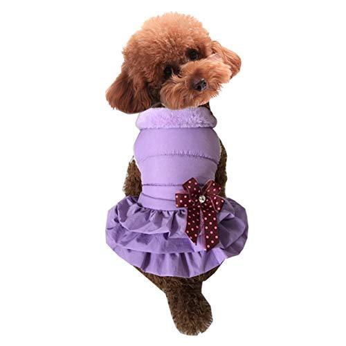 FENXIMEI 3 Kleuren Rokken Voor Medium Honden Hond Kleding En Winter Huisdier Kleding Extra Dikke Plissé Pettiskirt Warm Hond Kleding, L, roze