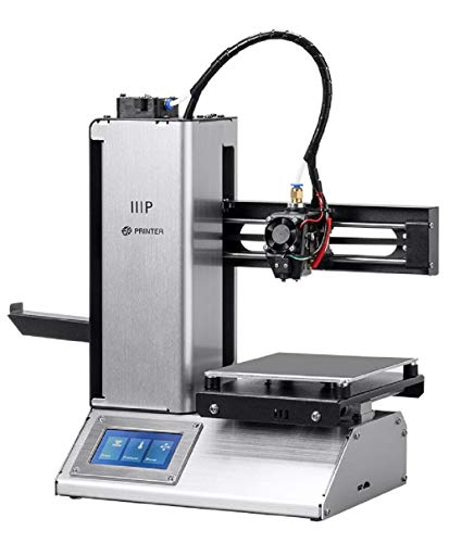 Monoprice Select Mini Pro 3D Printer - Aluminum with (120 x 120 x 120 mm) Auto Level Heated Bed, Removable Build Plate, Touch Screen Display, MicroSD Card and Wi-Fi