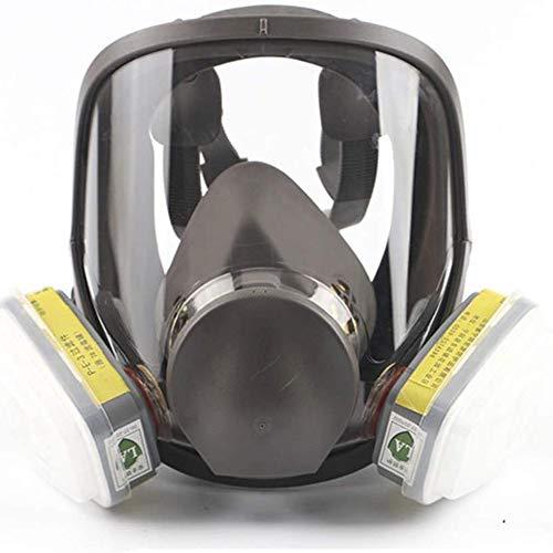 YLEI Gasmaske - Gesichtsschutz - Umfassend Maske Atemschutzgerät, Double Luft Filter, Augenschutz, Atemschutz, Für Lackieren, Staub, Mechanisches Polieren, Schweißen, Lackieren