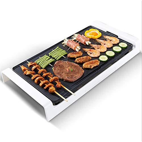 HAOXUAN Elektrische Grillplatte 1800W Hochleistungsintelligente Temperaturregelung Rauchfreier elektrischer Ofen Leicht zu reinigen Auf Pfannkuchen Burger Quesadillas auftragen